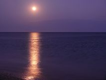 The Moon on ocean. Royalty Free Stock Photography