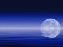 Moon & Oceans Royalty Free Stock Image