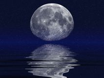 Moon & Oceans Stock Image