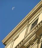 Moon och kontor Fotografering för Bildbyråer