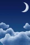 Moon och moln Royaltyfri Foto