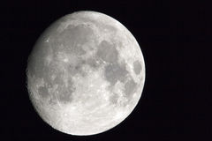 Moon in october. October moon shot with a 500mm and stacked tc,s royalty free stock photo