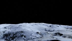 Moon in outer space, Surface. High quality, resolution, 4k. This image elements provided by NASA. vector illustration