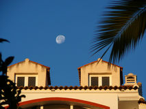 Moon over Alora Stock Images