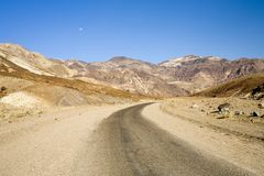 Moon Over Bad Water Road, Deat Royalty Free Stock Photo
