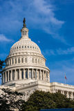 Moon Over Capitol Dome Royalty Free Stock Photography