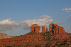 Moon Over Cathedral Rock Royalty Free Stock Photos