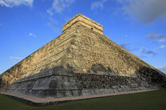 The Moon over Chichen Itza in the Yucatan Royalty Free Stock Images