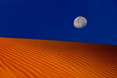 Moon Over The Dunes Royalty Free Stock Images