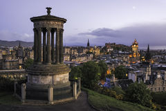 Moon over Edinburgh Stock Photo