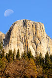 Moon Over El Capitan Royalty Free Stock Photo