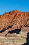 Moon over the Escalante Grand Staircase National Monument Utah Stock Photo