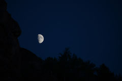 The moon over the gorge Royalty Free Stock Images