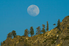 Moon over the hill Royalty Free Stock Images