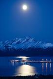 Moon Over the Kenai Royalty Free Stock Photo