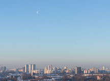 Moon over Minsk Royalty Free Stock Image