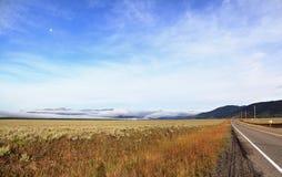 Moon Over Montana Royalty Free Stock Photo