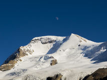 Moon over Mountain Royalty Free Stock Images