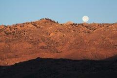 Moon Over Mountain Stock Photo