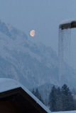 Moon over the mountains Royalty Free Stock Image
