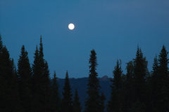 The moon over the mountains. Royalty Free Stock Photos