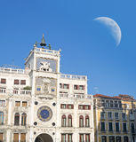 Moon over San Marco Royalty Free Stock Images