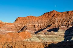 Moon over the Scenic Escalante Grand Staircase National Monument Utah Stock Images