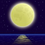 Moon over sea Royalty Free Stock Images