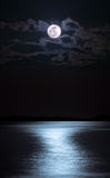 Moon over sea Stock Photo