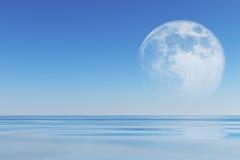 Moon over sea Stock Photography