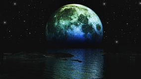 Moon over sea Royalty Free Stock Photo