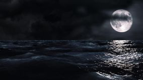 Moon over the sea. Video of moon over the sea stock footage