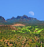Moon Over Sedona Arizona Royalty Free Stock Photography