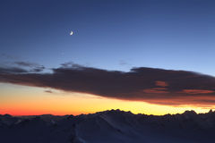 Free Moon Over The Mountains Stock Images - 36123384