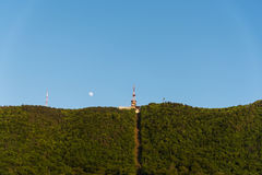 Moon Over Vrasov Stock Photography