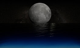 Moon over water Royalty Free Stock Photos