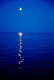 Moon over White Sea. The moon rose over the White sea in the sky and in the water reflected moonlight Stock Image