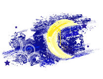 Moon painted Royalty Free Stock Photos