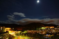 Moon panorama Vrangel. View ferst road Stock Images