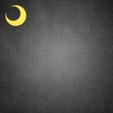 Moon paper art on black Royalty Free Stock Photo