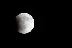 Moon partial lunar eclipse Royalty Free Stock Photography