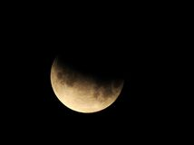 Moon,partial lunar eclipse Los Angeles,California Stock Photography