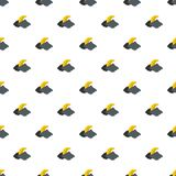 Moon pattern seamless. In flat style for any design Stock Photography