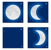 Moon phase. A vector illustration Royalty Free Stock Photo