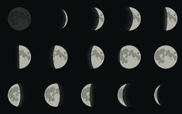 Moon phase Royalty Free Stock Photo