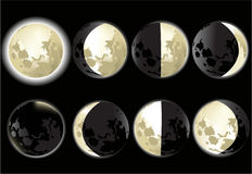 Moon phases Stock Images