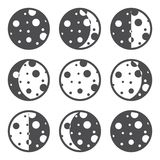 Moon phases. Icons. Vector illustration EPS 8 Stock Photos