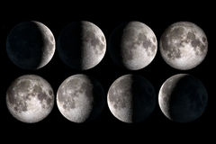Free Moon Phases Stock Photography - 47767602
