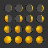 Moon phases.  Stock Photos