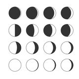 Moon phases. Stock Photography